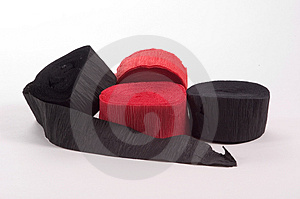 Black And Red Crepe Paper Stock Photo