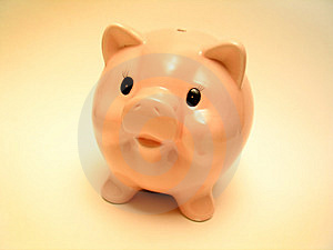 Pink piggy Stock Photo