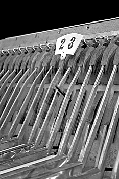 Accordion B&w Free Stock Photography