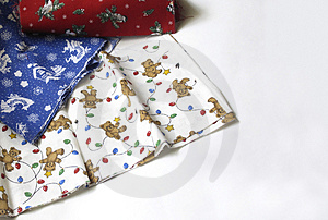Christmas Fabrics Free Stock Photo