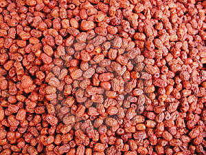 Chinese Dried Fruits Free Stock Photography