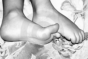Tiny Feet Stock Photography