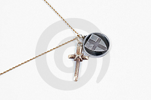 Cross And Medallion Royalty Free Stock Photos - Image: 38218