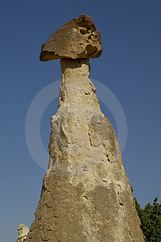 Face stone at Cappadocia Royalty Free Stock Photography