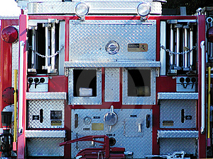 Business End of Fire Truck Royalty Free Stock Photos
