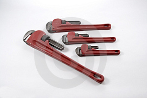 Monkey Wrenches Royalty Free Stock Images