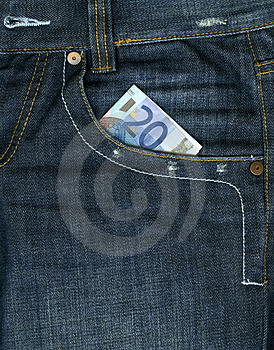 Money In Pocket Stock Image - Image: 3003611