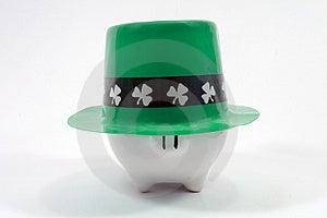 Saint Patrick's Day Piggy Ban Stock Image - Image: 3012561