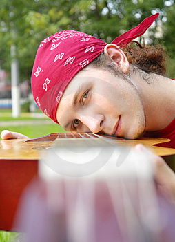 Teenage Boy With A Guitar Stock Photography - Image: 3013482