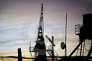 Shipyard Cranes Stock Photography - Image: 3020522
