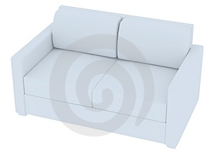 3D Rendering Of A White Sofa Stock Photography - Image: 3025422