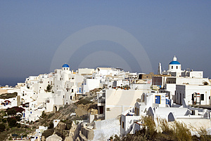 Scene Town Of Oia Santorini Royalty Free Stock Images - Image: 3029339
