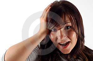 Shocked woman Royalty Free Stock Photo