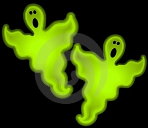 Halloween Glow Ghosts Clip Art Royalty Free Stock Photography
