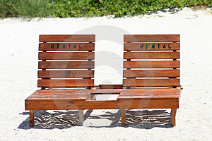 Beach Rental Chairs Stock Photo - Image: 3036060