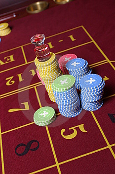 Roulette Gambling Chips Royalty Free Stock Photo - Image: 3037865
