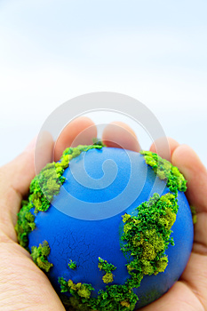 Earth In Hands Royalty Free Stock Images - Image: 30348689