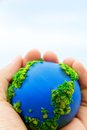 Earth in hands concept save green planet Royalty Free Stock Images