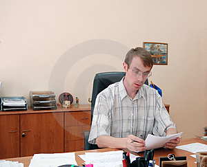 Businessman in his office Royalty Free Stock Photography