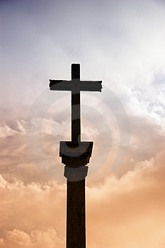 Cross silhouette Stock Images