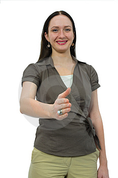 Woman To Shake Hands Stock Photos - Image: 3046063