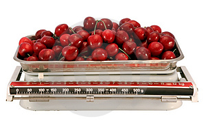 The Cherry And Scales. Stock Photo - Image: 3052170