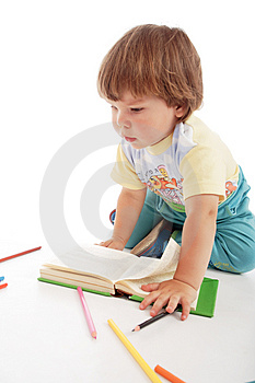 Kid pens Royalty Free Stock Images