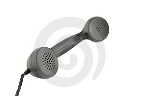 Black telephone reciever Royalty Free Stock Photography