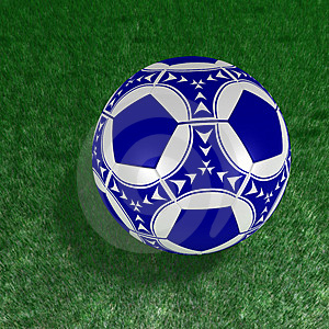 Soccer Ball On The Grass Royalty Free Stock Image - Image: 3057196