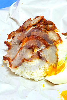 Rice With Roasted Red Pork Royalty Free Stock Photos - Image: 30502728