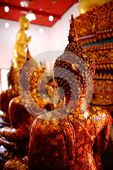 Ancient Buddha Images In A Thai Buddhist Temple. Royalty Free Stock Photography - Image: 30515297