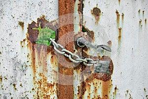 链子锁的生锈的门 免版税库存图片 - 图片: 30516089