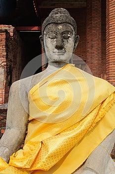 Sandstone buddha image stock image. Image of asia, image - 30516433