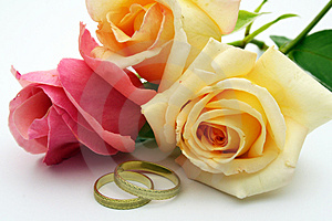 Rings And Rose Stock Images - Image: 3060994