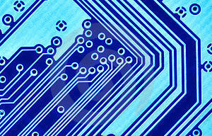 Blue circuit board macro