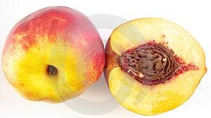 Half Peach & Peach Royalty Free Stock Photo - Image: 3063775