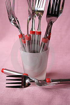 Forks Stock Photo - Image: 3064190