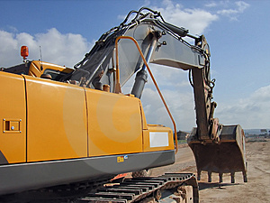 Excavator 4 Royalty Free Stock Images