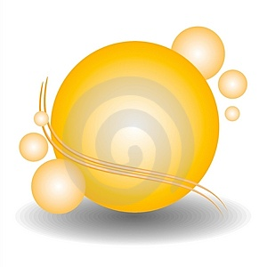 Gold Spheres Web Site Logo Royalty Free Stock Photos