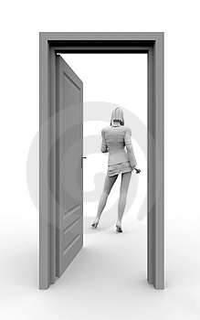 Door to success Stock Image