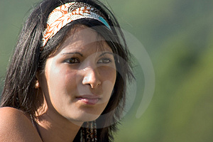 Portrait Of Young Woman In Shi Stock Photos - Image: 3073603
