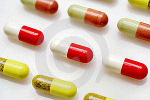 Pills background Royalty Free Stock Photo