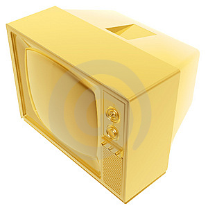Golden Tvset Royalty Free Stock Images - Image: 3075579