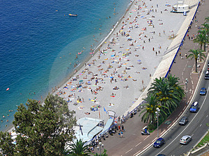 The Beach In Nice, France. Stock Photo - Image: 3077340