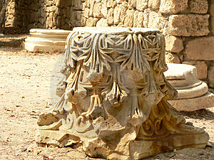 Ancient Stone Pillar Detail Royalty Free Stock Photos - Image: 3080538