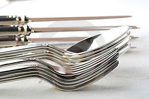 Silverware Stock Image - Image: 3084621