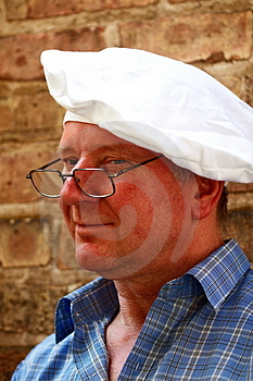 Cook On The Brick Stock Image - Image: 3084991