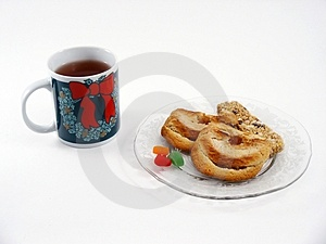 Tea And Snacks Royalty Free Stock Photo - Image: 311155
