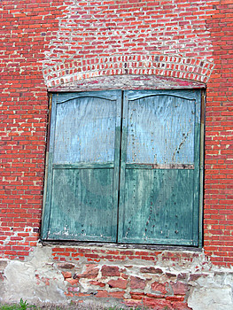 Green Doors, Red Bricks Stock Photos - Image: 312193