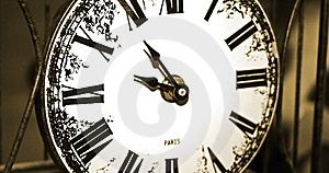 Paris Clock Close Up Royalty Free Stock Photography - Image: 312867